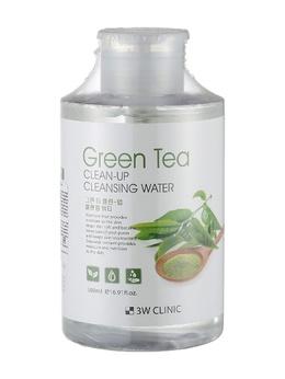 Очищающая вода для снятия макияжа Зеленого чая 3W CLINIC  Green Tea Clean-Up Cleansing Water 500 мл