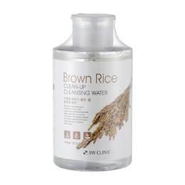 Очищающая вода для снятия макияжа с Экстрактом риса 3W CLINIC Brown Rice Clean-Up Cleansing Water 500 мл