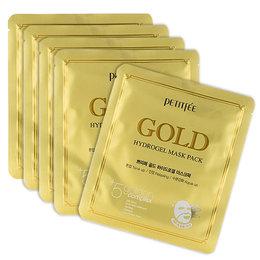 Набор маска для лица гидрогелевая с Золотом PETITFEE  Gold Hydrogel Mask Pack 5 шт