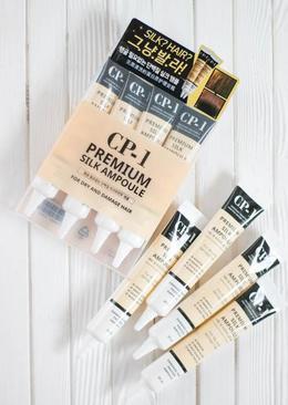 Набор/несмываемая сыворотка для волос с протеином шелка ESTHETIC HOUSE CP-1 Premium Silk Ampoule 20 мл*4 тубы