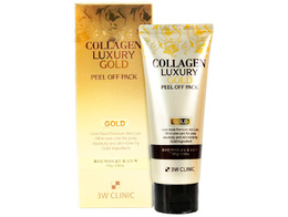 Маска-пленка для лица 3W CLINIC Collagen&Luxury Gold  peel off pack 100 гр