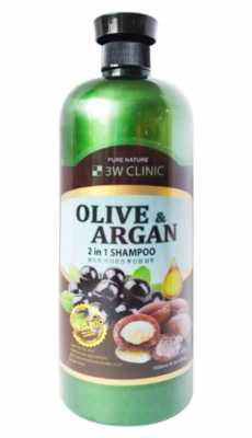 Шампунь для волос Аргановое Масло и Олива 3W CLINIC Olive&Argan 2in1 Shampoo 1500 мл