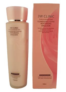 Увлажнение/Эмульсия для лица 3W CLINIC Flower Effect Extra Moisture Emulsion 150 мл
