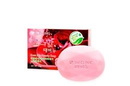 Мыло кусковое Роза 3W CLINIC Rose Hip Beauty Soap 120 гр