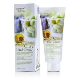 Крем для рук увлажняющий с экстрактом Оливы 3W CLINIC Olive Hand Cream 100 мл