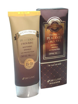 Солнцезащитный ВВ крем с Плацентой 3W CLINIC Premium Placenta Sun BB Cream 70 мл