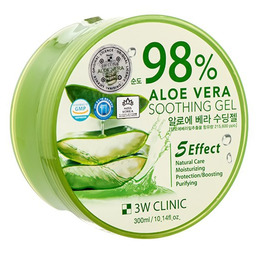 Гель универсальный Алоэ 3W CLINIC Aloe Vera Soothing Gel 98% 300 гр