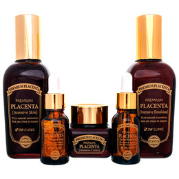 Плацента/Набор для ухода за лицом антивозрастной 3W CLINIC Premium Placenta 3 Items Set