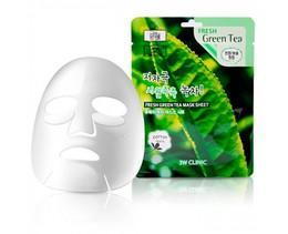 Набор/Тканевая маска для лица Зеленый чай 3W CLINIC Fresh Green tea Mask Sheet 10 шт