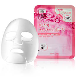 Набор/Тканевая маска для лица Коллаген 3W CLINIC Fresh Collagen Mask Sheet 10 шт