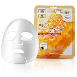 Набор/Тканевая маска для лица Маточное молочко 3W CLINIC Fresh Royal Jelly Mask Sheet 10 шт