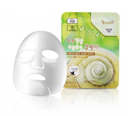 Набор/Тканевая маска для лица Муцин Улитки 3W CLINIC Fresh Snail Mucus Mask Sheet 10 шт