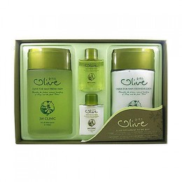 Набор для ухода за мужской кожей Олива 3W CLINIC Olive for Man Fresh 2 Items Set