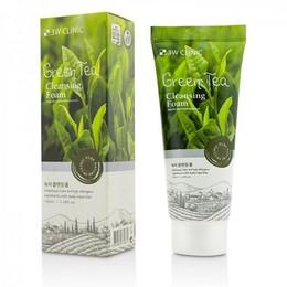 Пенка для умывания натуральная Зеленый чай 3W CLINIC Green Tea Foam Cleansing 100 мл
