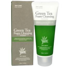 Пенка для умывания Зеленый чай 3W CLINIC Green Tea Foam Cleansing 100 мл