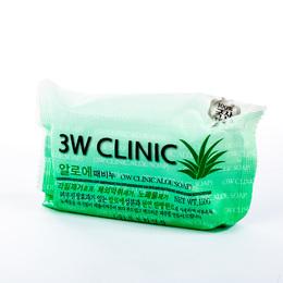Мыло кусковое Алоэ 3W CLINIC Aloe Soap 150 гр