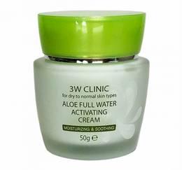 Крем д/лица с Алоэ 3W CLINIC Aloe Full Water Activating 50 гр