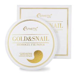 Гидрогелевые патчи для глаз золото/улитка ESTHETIC HOUSE Gold&Snail Hydrogel Eyepatch 60 шт