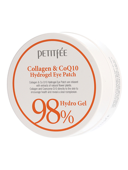 Набор патчей для век гидрогел. Коллаген Q10 PETITFEE Collagen&CoQ10 Hydrogel Eye Patch 60 шт