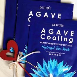 Набор маска для лица гидрогелевая с Агавой PETITFEE Agave Cooling Hydrogel Face Mask 5 шт
