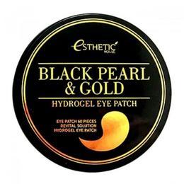 Гидрогелевые патчи для глаз черный жемчуг/золото ESTHETIC HOUSE Black Pearl&Gold Hydrogel Eyepatch 60 шт