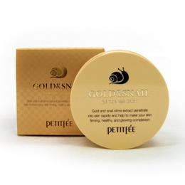 Набор патчей для век гидрогел. Золото/Улитка PETITFEE Gold/Snail Hydrogel Eye Patch 60 шт