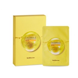 Тканевая маска для лица Календула Wellderma Calendula Calming Soon Mask 10 шт * 30 мл